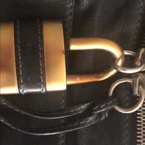 Chloe Leather Handbag with Lock and Key
